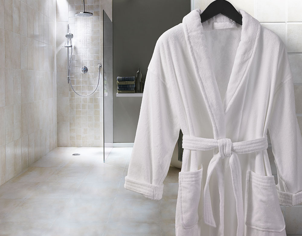 Customers can avail from us a comprehensive range of these Terry Bath Robes that has been designed in sophisticated and fascinating patterns. We have made use of the best quality towel type fabric in the fabrication of the towels.