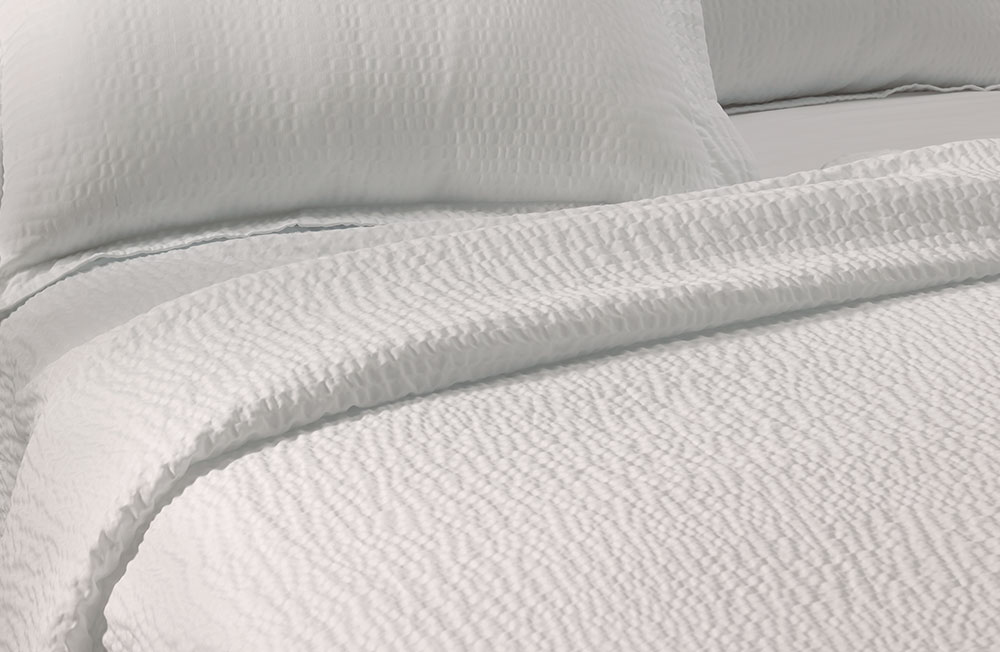 Bed sheets texture - Textured Coverlet
